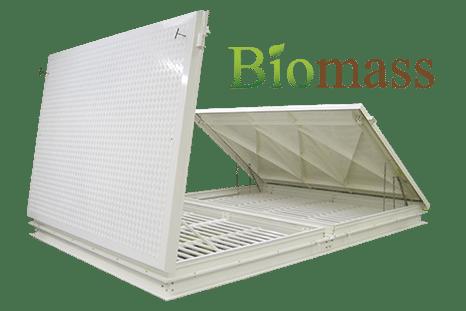 Biomass plant access hatch