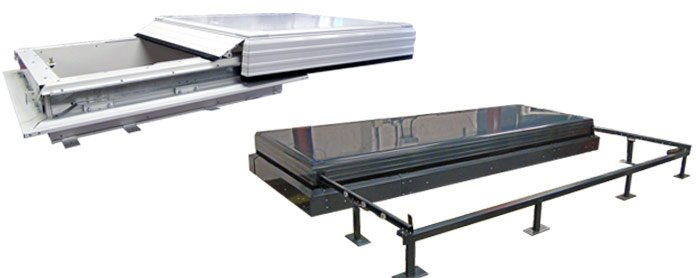 Sliding roof hatch - examples